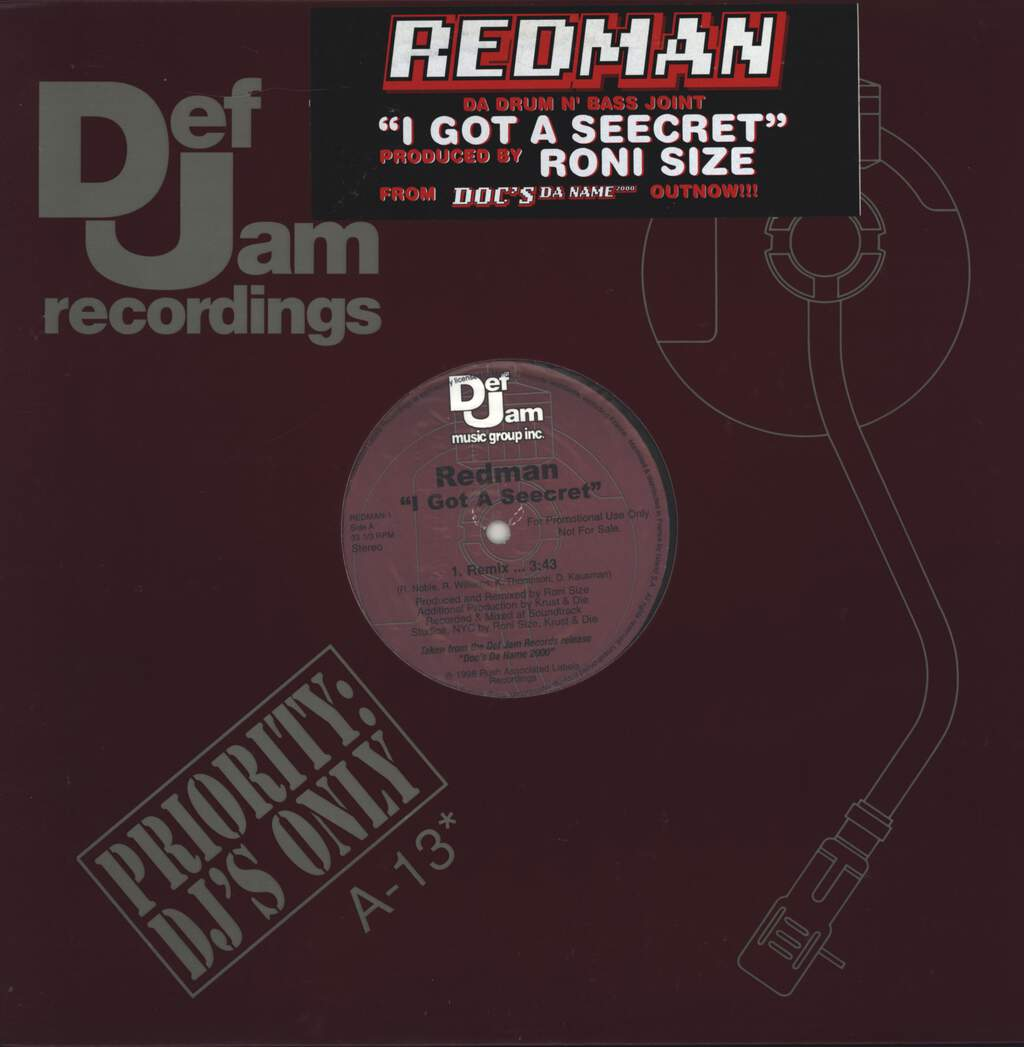 "Redman: I Got A Seecret, 12"" Maxi Single (Vinyl)"