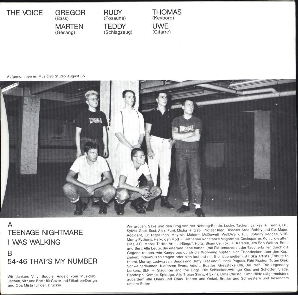 "The Voice: Teenage Nightmare, 7"" Single (Vinyl)"