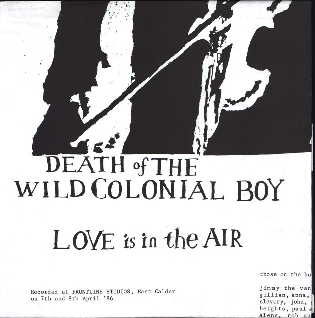 "We Free Kings: Love Is In The Air / Death Of The Wild Colonial Boy, 7"" Single (Vinyl)"