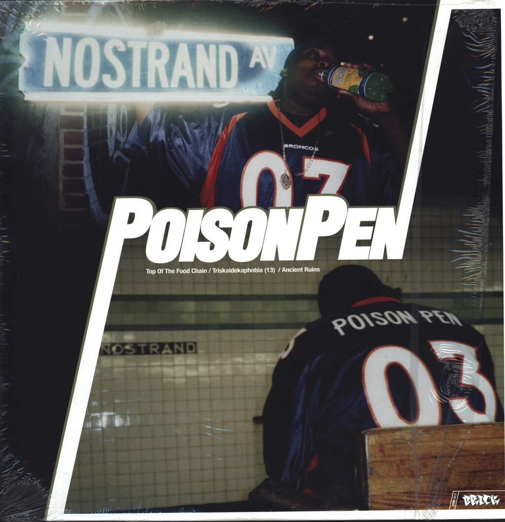 "Poison Pen: Top Of The Food Chain / Triskaidekaphobia (13) / Ancient Ruins, 12"" Maxi Single (Vinyl)"