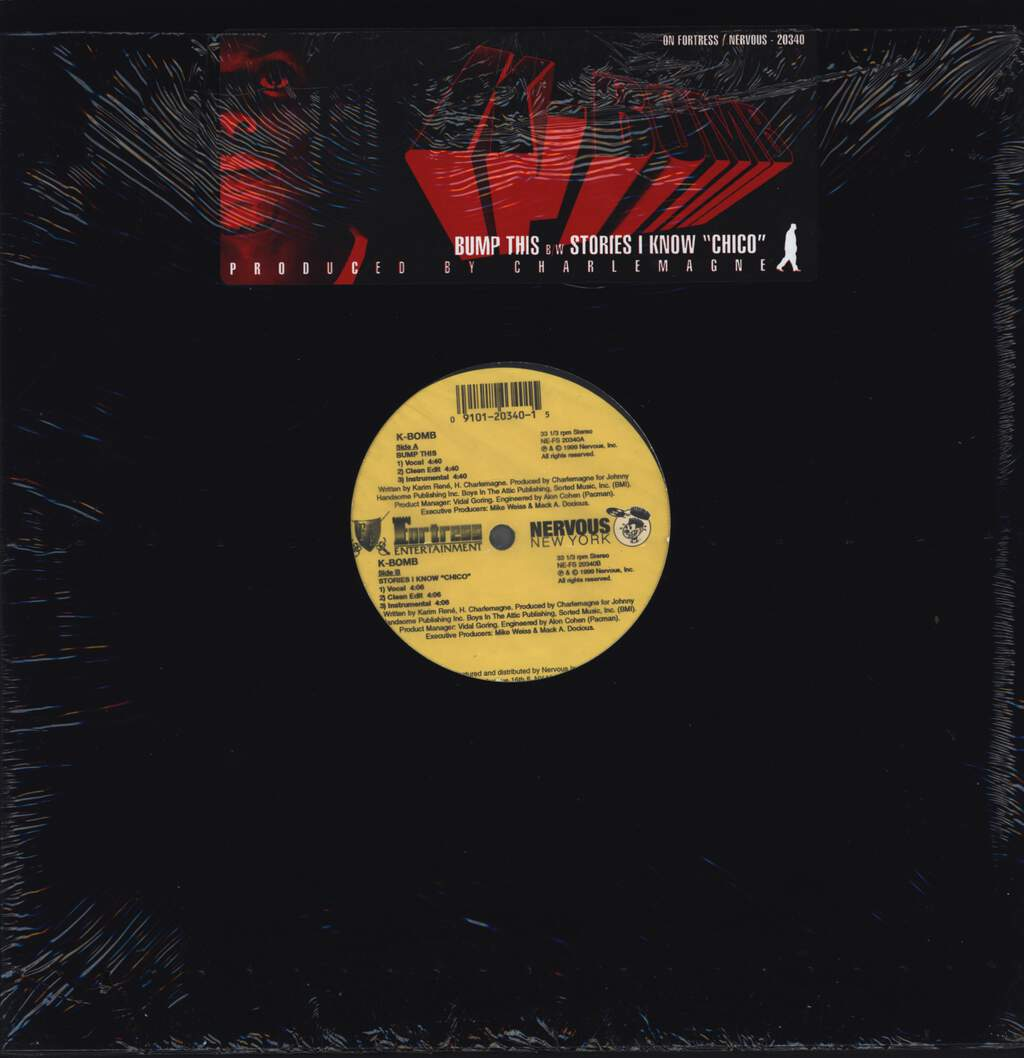 "K-Bomb: Bump This / Stories I Know ""Chico"", 12"" Maxi Single (Vinyl)"