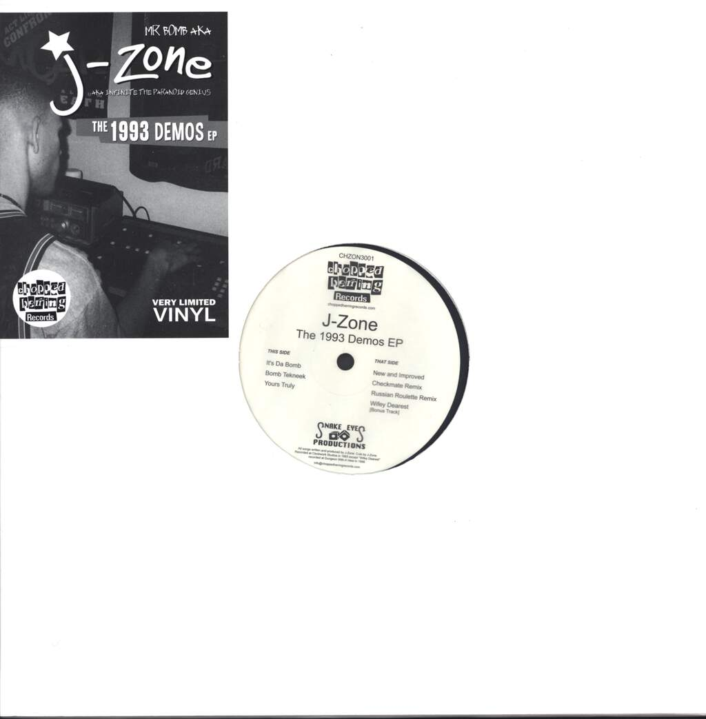 "J-Zone: The 1993 Demos EP, 12"" Maxi Single (Vinyl)"