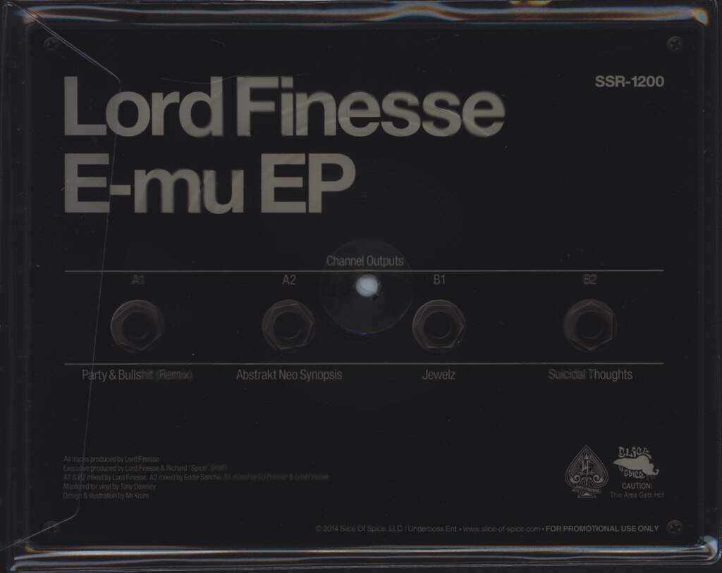 "Lord Finesse: E-mu EP, 10"" Vinyl EP"