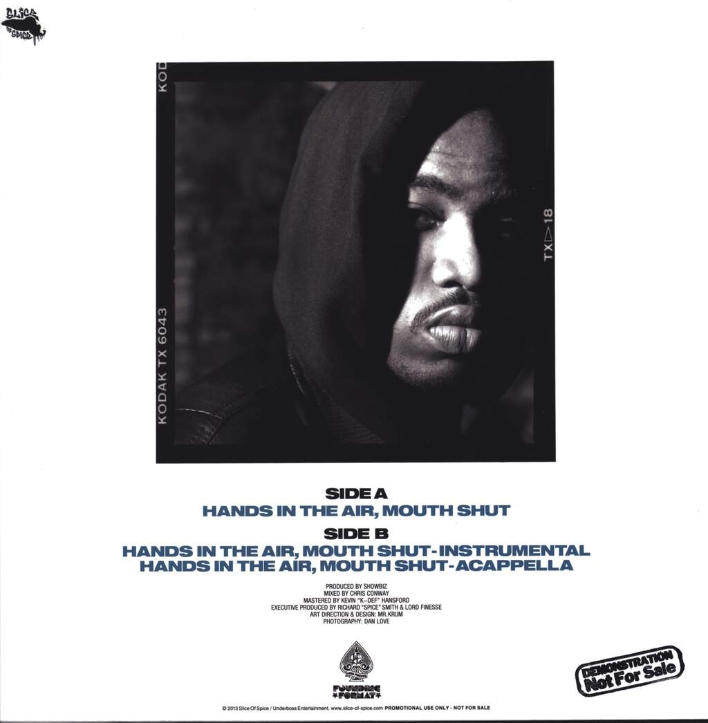 "Lord Finesse: Hands In The Air, Mouth Shut (Remastered), 12"" Maxi Single (Vinyl)"