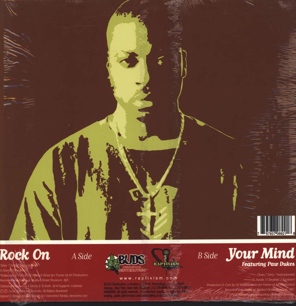 "L Da Headtoucha: Rock On / Your Mind, 12"" Maxi Single (Vinyl)"