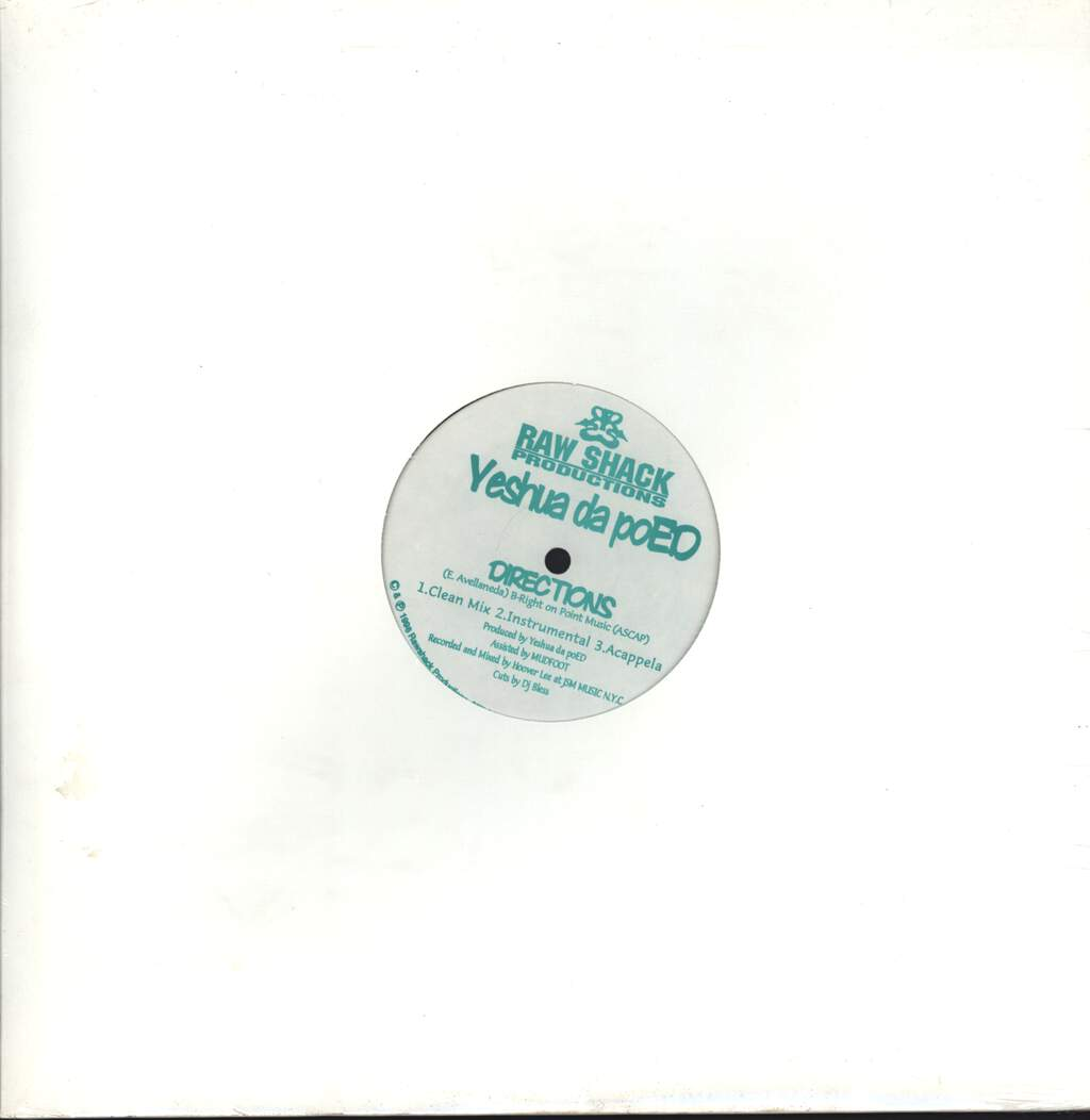 "Yeshua daPoED: Directions / The Head Bop, 12"" Maxi Single (Vinyl)"