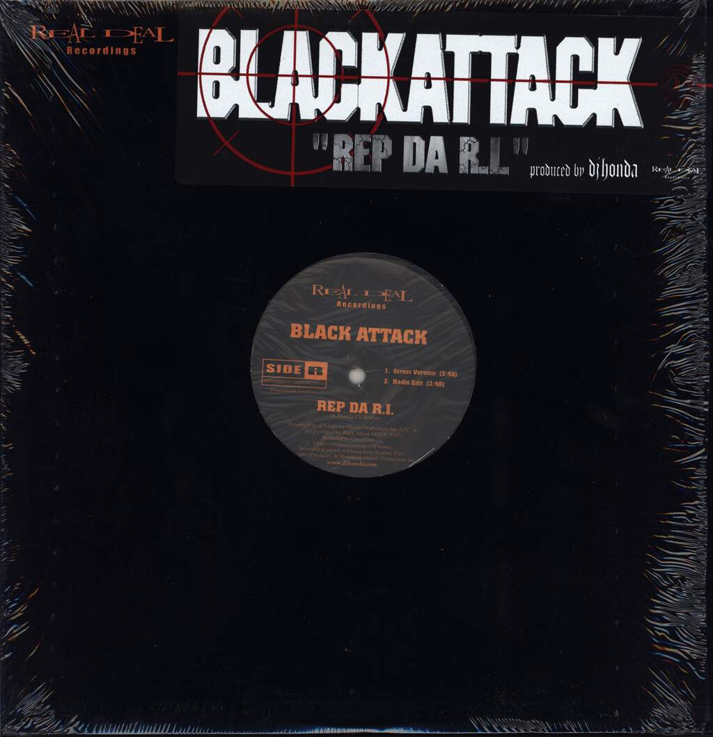 "Black Attack: Rep Da R.I., 12"" Maxi Single (Vinyl)"
