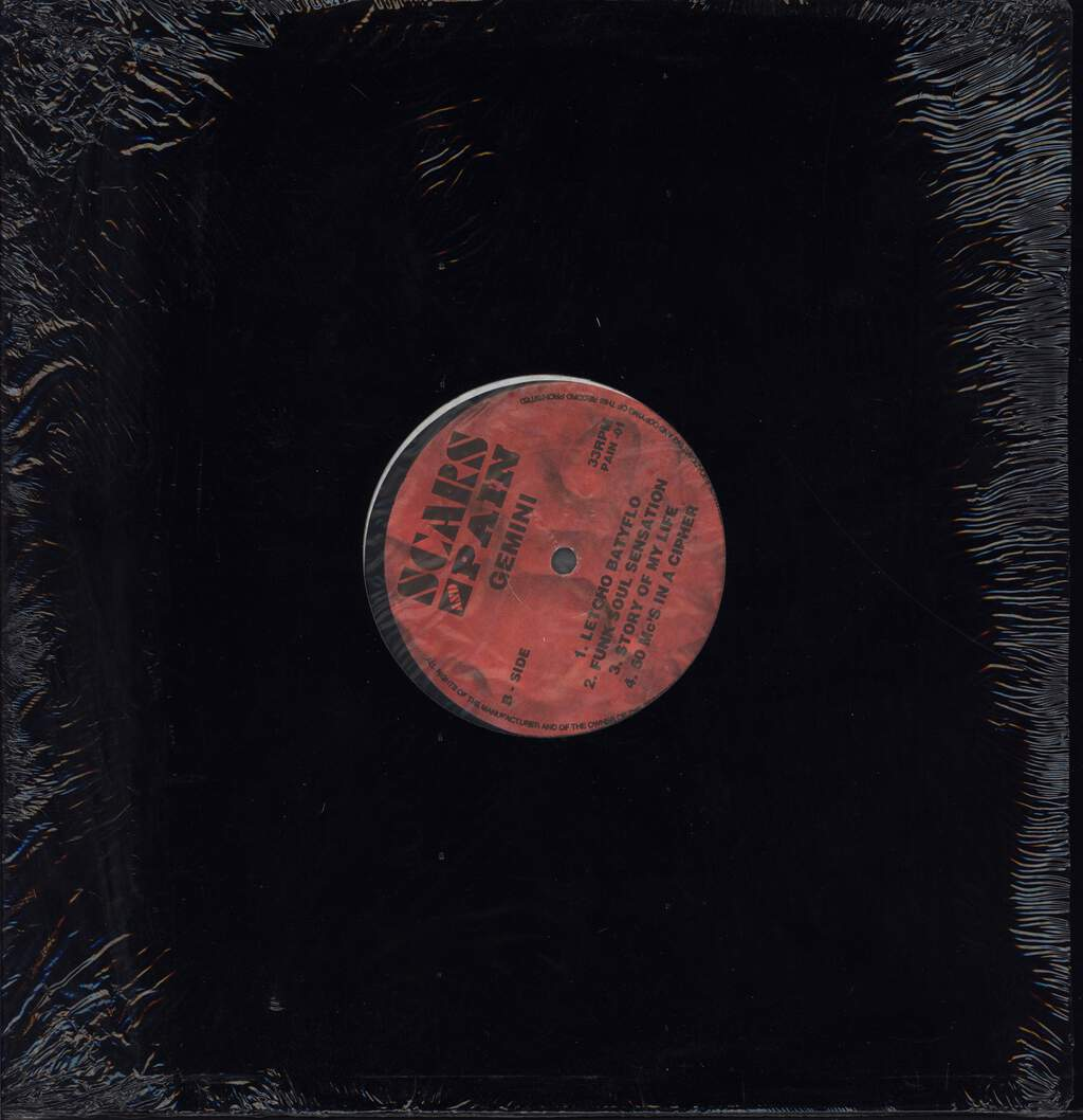 "Jemini the Gifted One: Scars And Pain, 12"" Maxi Single (Vinyl)"