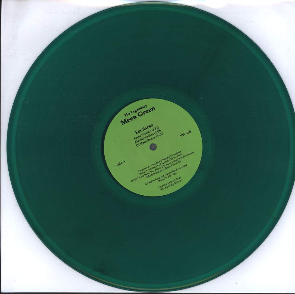 "Meen Green: Fat Sacks / L.A.'s Finest, 12"" Maxi Single (Vinyl)"