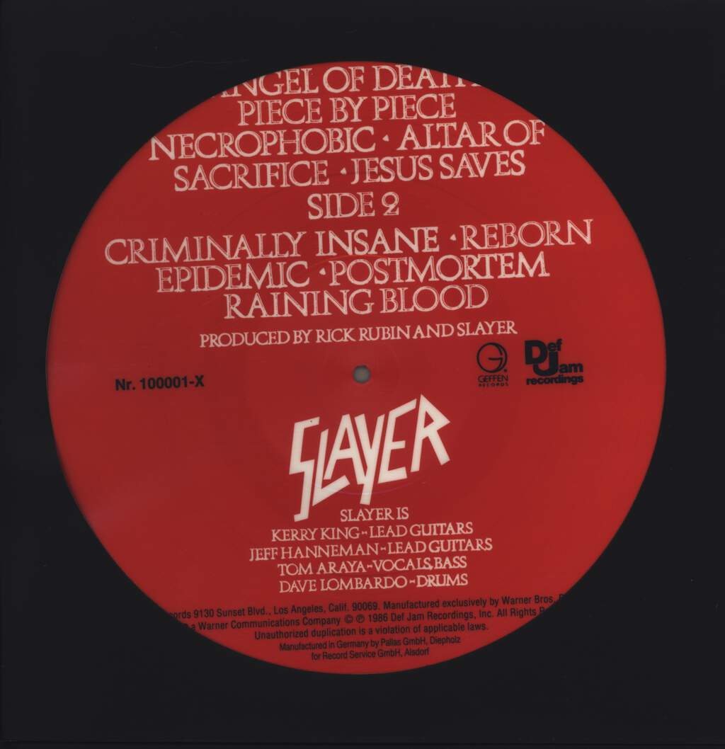 Slayer: Reign In Blood, LP (Vinyl)