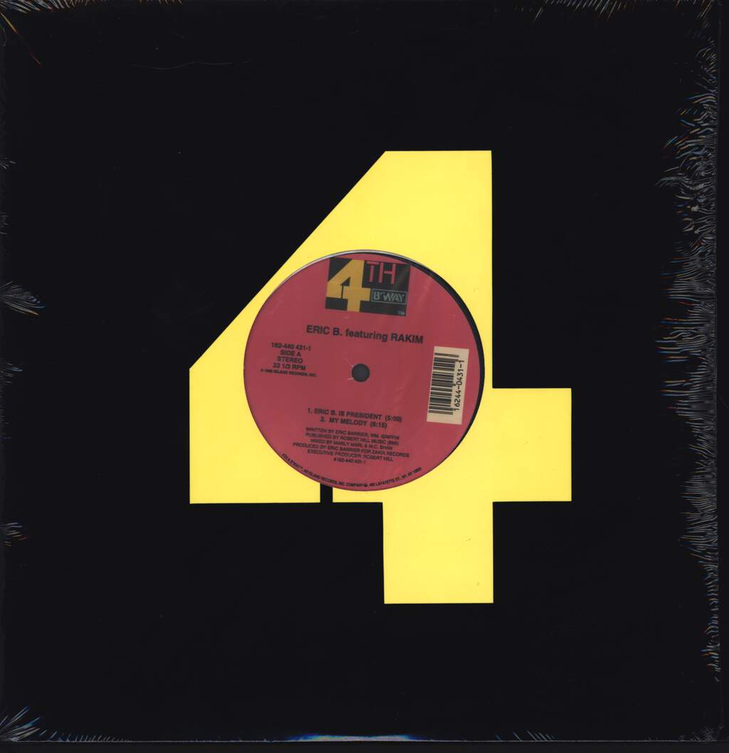 "Eric B & Rakim: Eric B. Is President / My Melody, 12"" Maxi Single (Vinyl)"