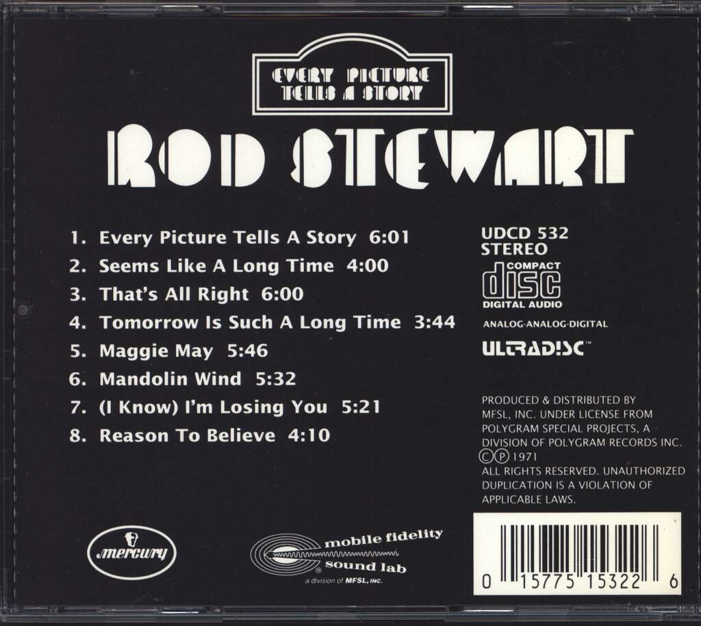 Rod Stewart: Every Picture Tells A Story, CD