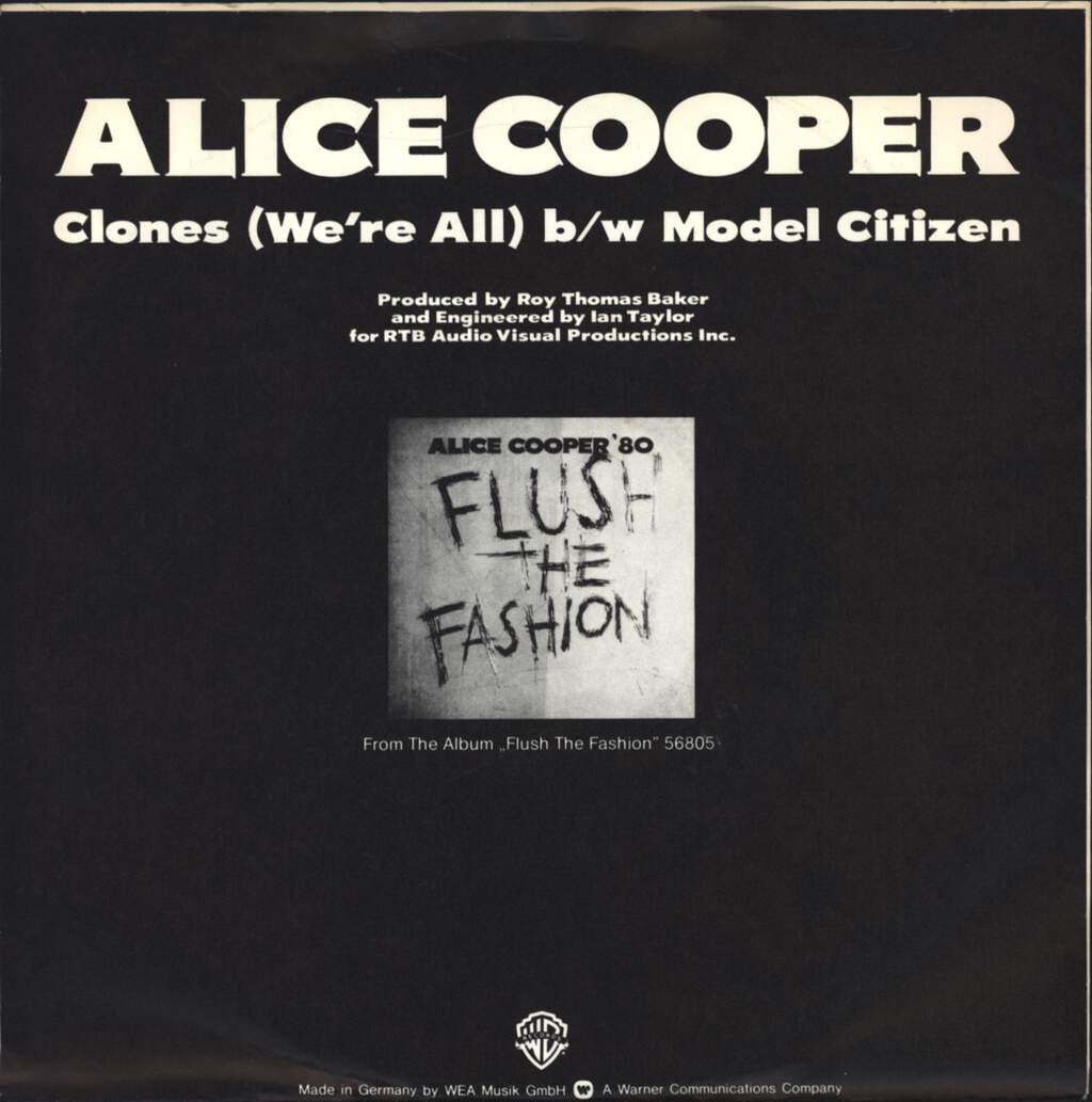 "Alice Cooper: Clones (We're All), 7"" Single (Vinyl)"