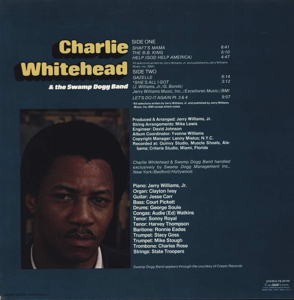 Charlie Whitehead: Charlie Whitehead & The Swamp Dogg Band, LP (Vinyl)