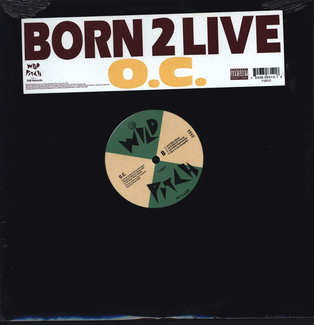 "O.C.: Born 2 Live / Let It Slide, 12"" Maxi Single (Vinyl)"
