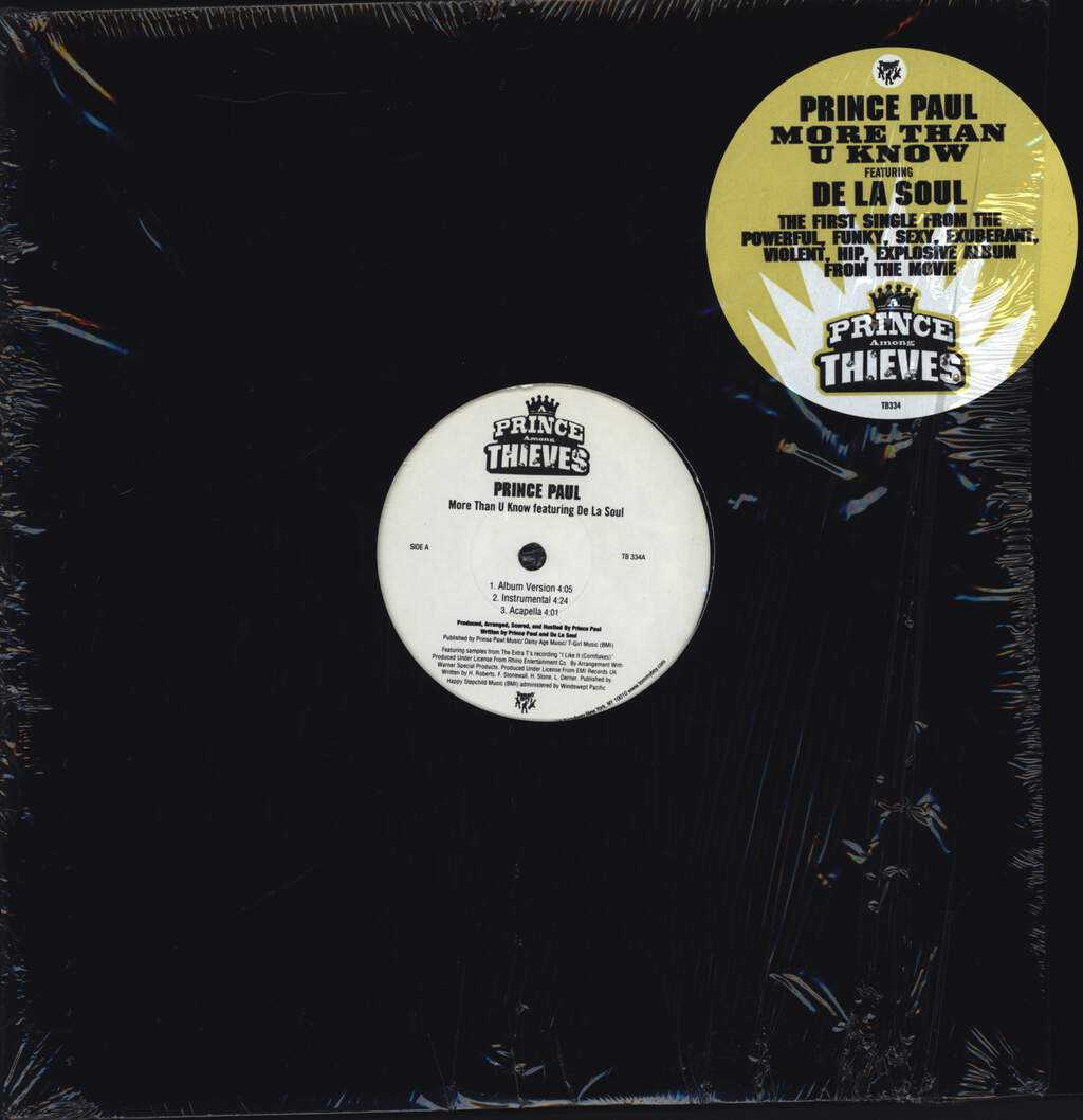 "Prince Paul: More Than U Know, 12"" Maxi Single (Vinyl)"