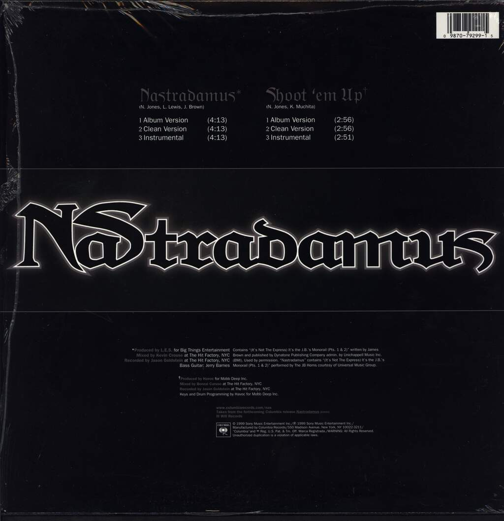 "Nas: Nastradamus / Shoot 'Em Up, 12"" Maxi Single (Vinyl)"