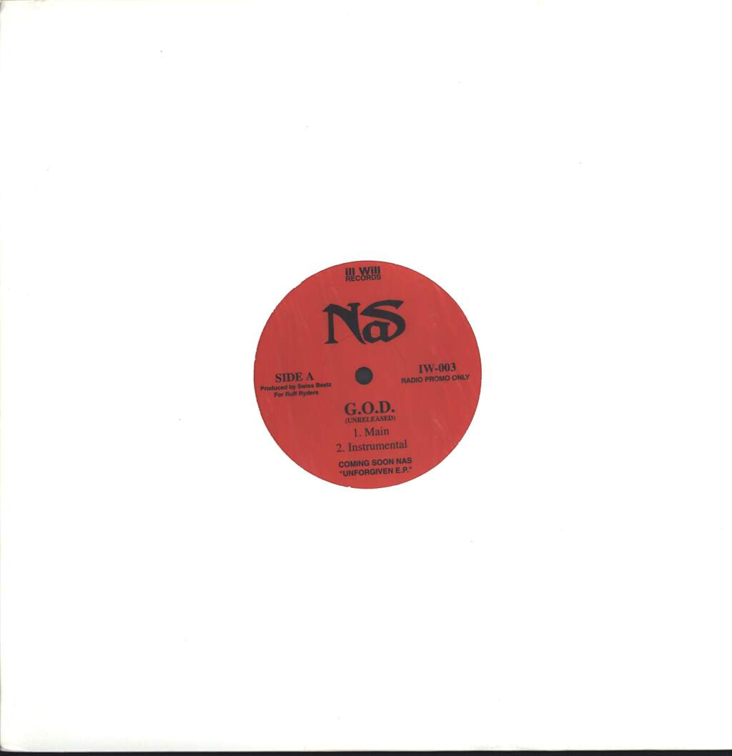 "Nas: G.O.D. / The Cross, 12"" Maxi Single (Vinyl)"