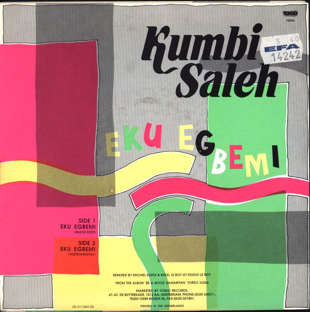 "Kumbi Saleh: Eku Egbemi, 7"" Single (Vinyl)"