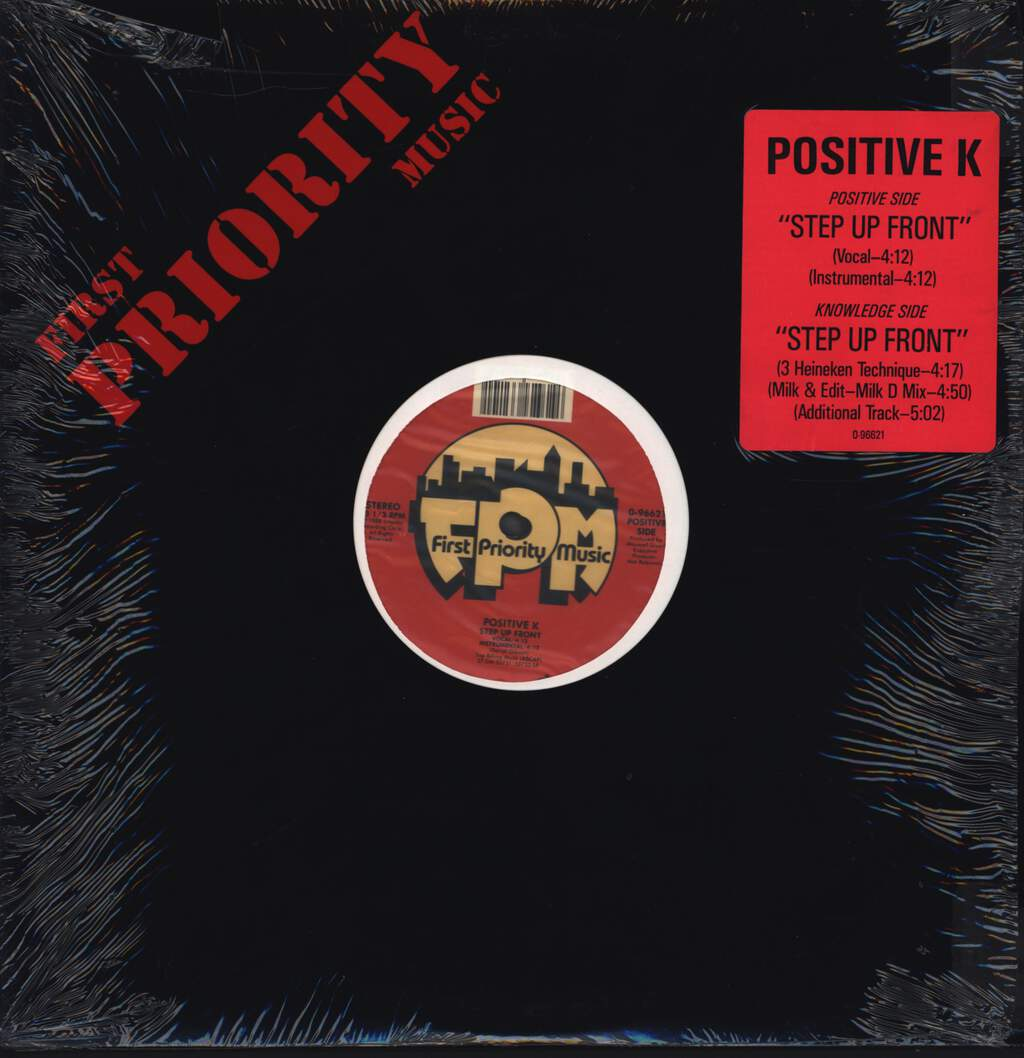 "Positive K: Step Up Front, 12"" Maxi Single (Vinyl)"