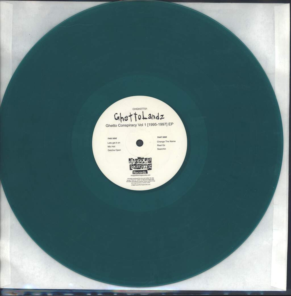 "Ghettolandz: Ghetto Conspiracy Vol. 1 [1995-1997] EP, 12"" Maxi Single (Vinyl)"