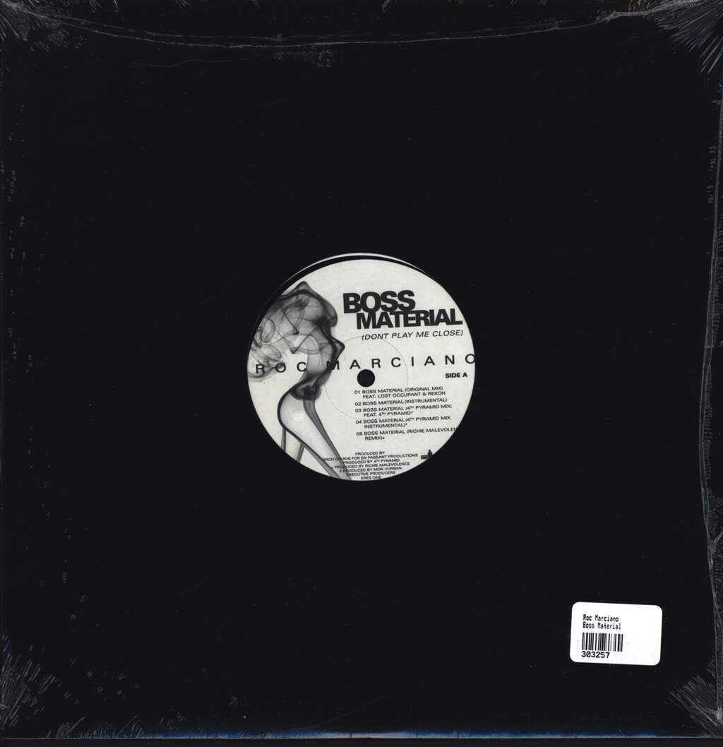 "Rock Marciano: Boss Material (Don't Play Me Close), 12"" Maxi Single (Vinyl)"