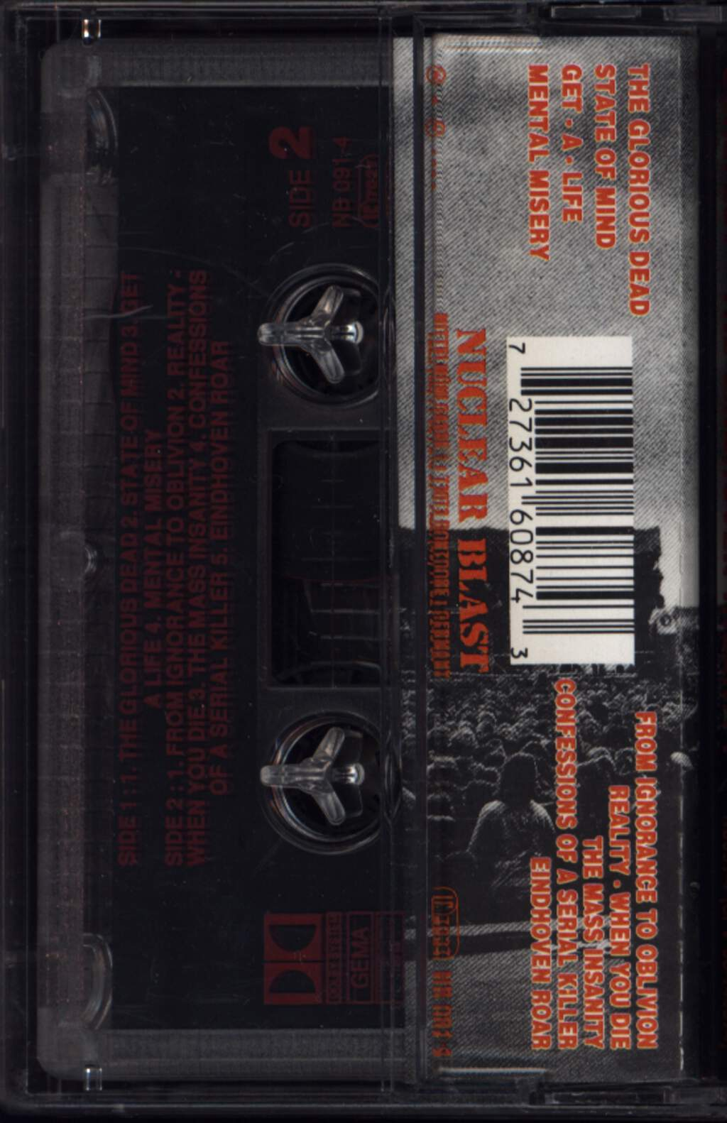 Gorefest: The Eindhoven Insanity, Compact Cassette