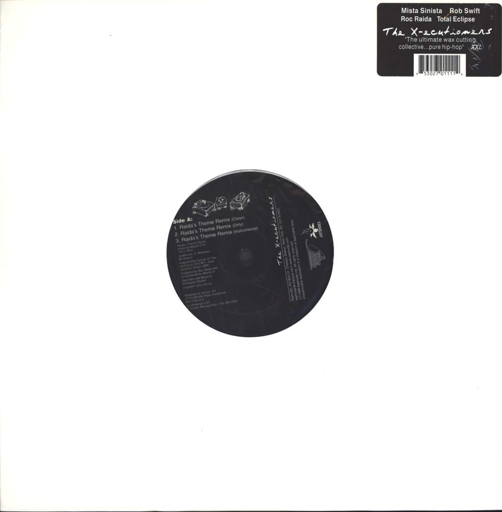 "The X-Ecutioners: Raida's Theme Remix, 12"" Maxi Single (Vinyl)"