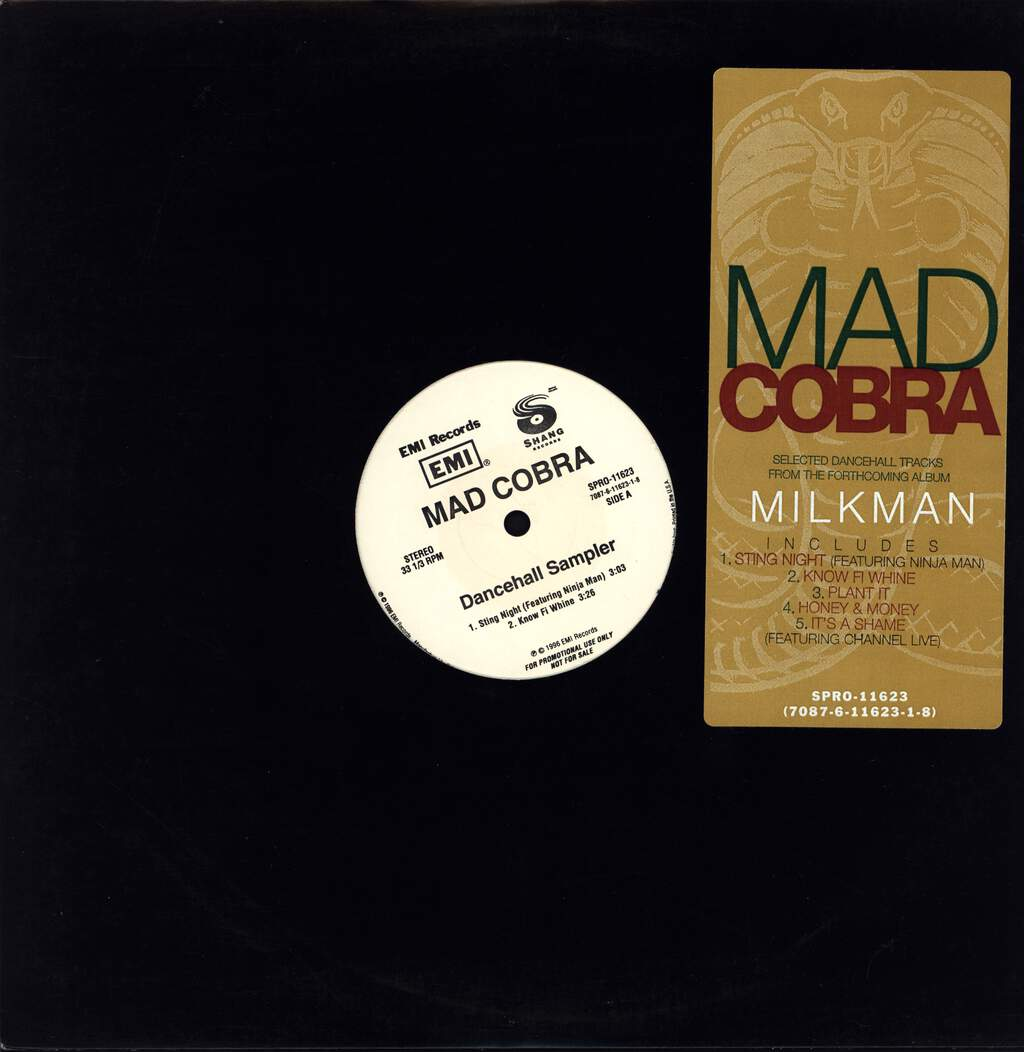 "Mad Cobra: Dancehall Sampler, 12"" Maxi Single (Vinyl)"