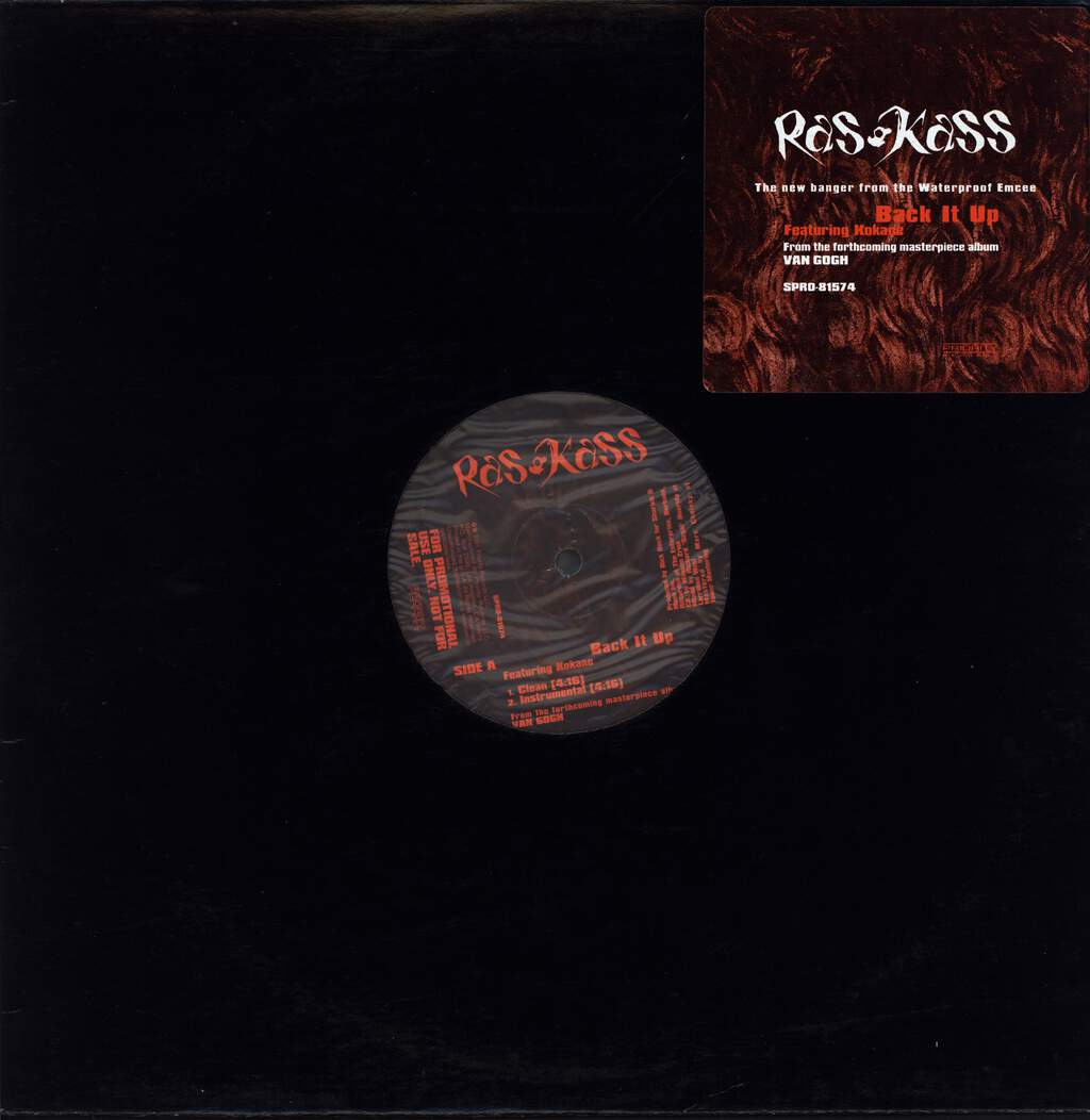"Ras Kass: Back It Up, 12"" Maxi Single (Vinyl)"