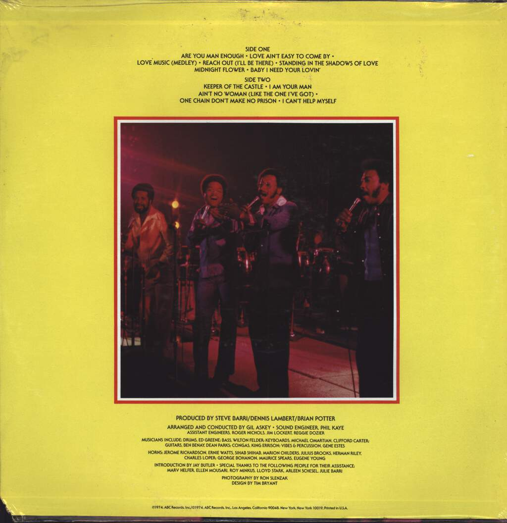 Four Tops: Live & In Concert, LP (Vinyl)