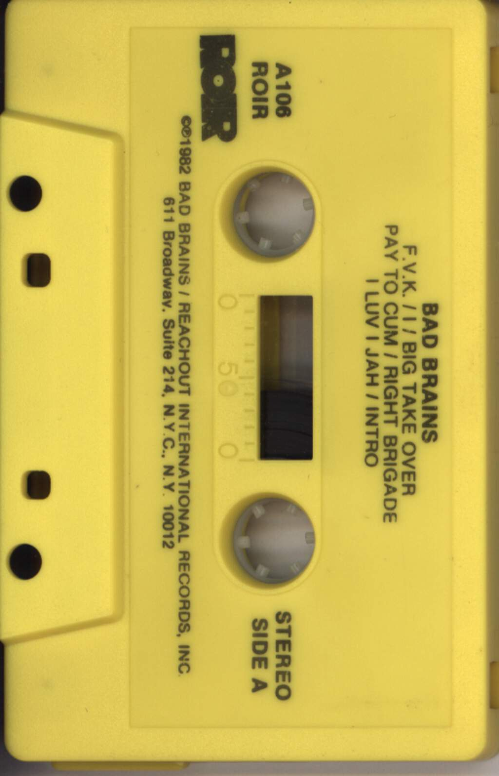 Bad Brains: Bad Brains, Compact Cassette