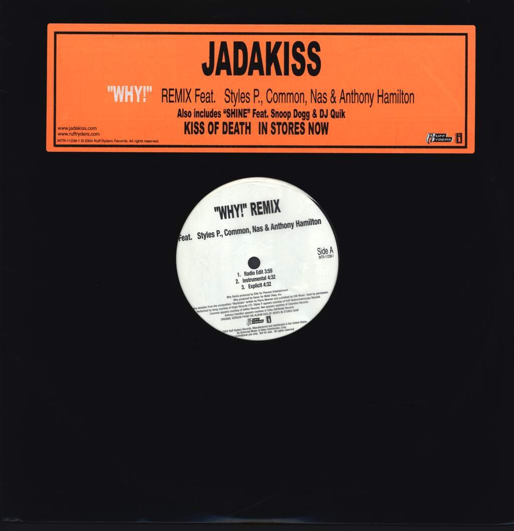 "Jadakiss: Why! Remix / Shine, 12"" Maxi Single (Vinyl)"