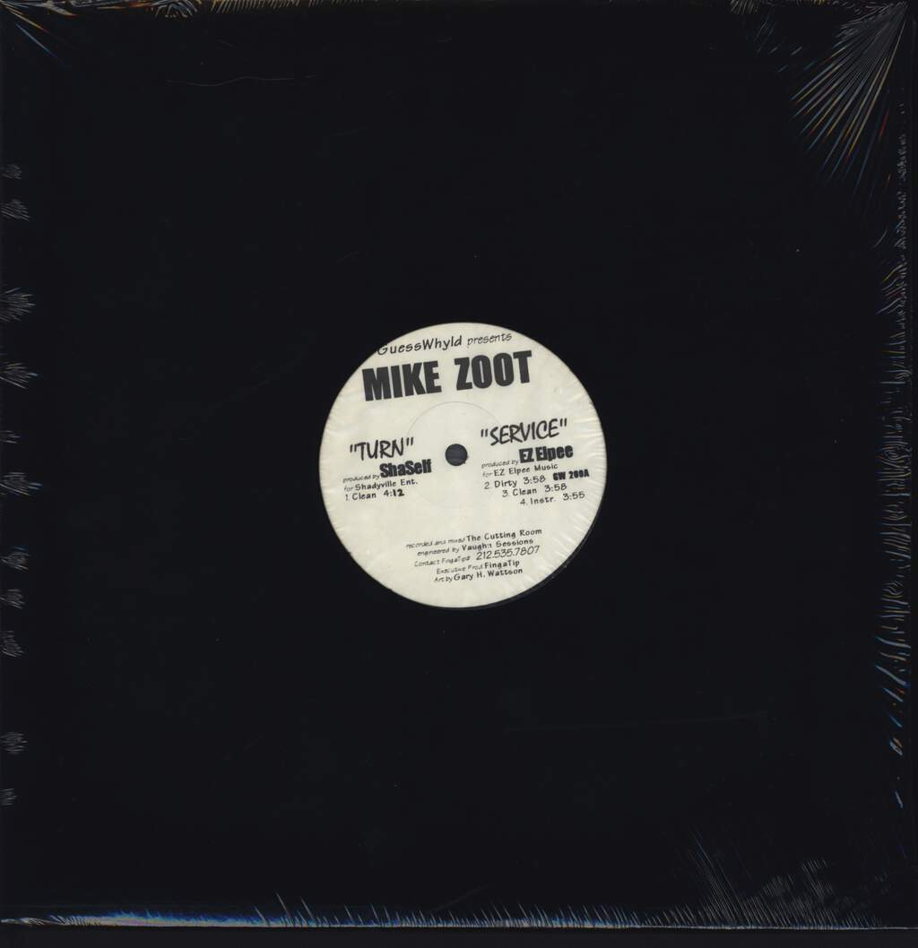 "Mike Zoot: Turn / Service / High Drama, 12"" Maxi Single (Vinyl)"
