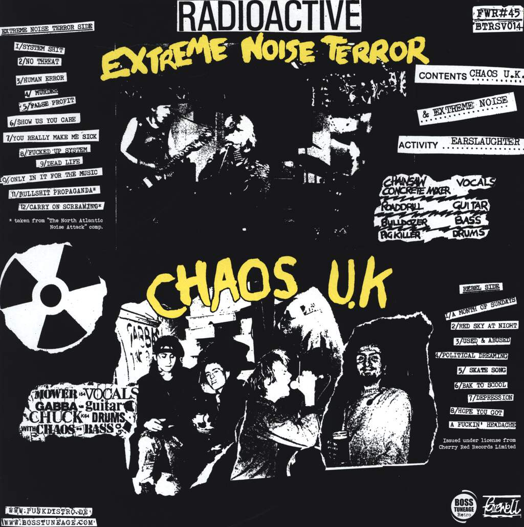Chaos UK Extreme Noise Earslaughter