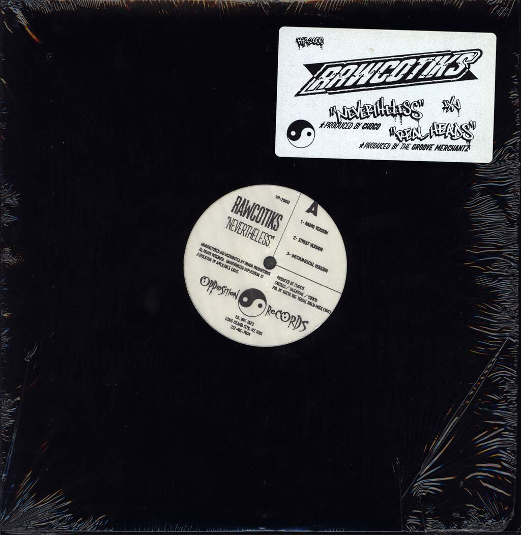 "Rawcotiks: Nevertheless / Real Heads, 12"" Maxi Single (Vinyl)"