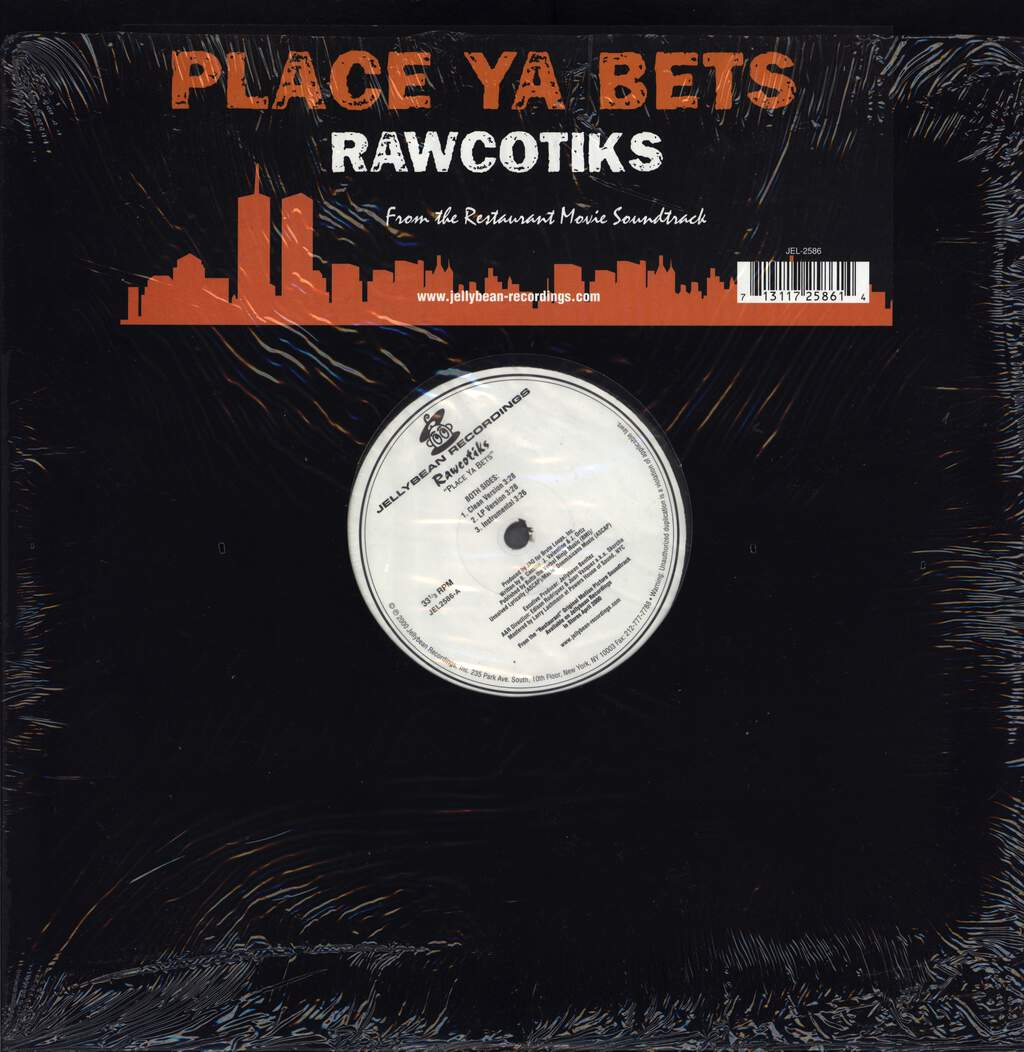 "Rawcotiks: Place Ya Bets, 12"" Maxi Single (Vinyl)"