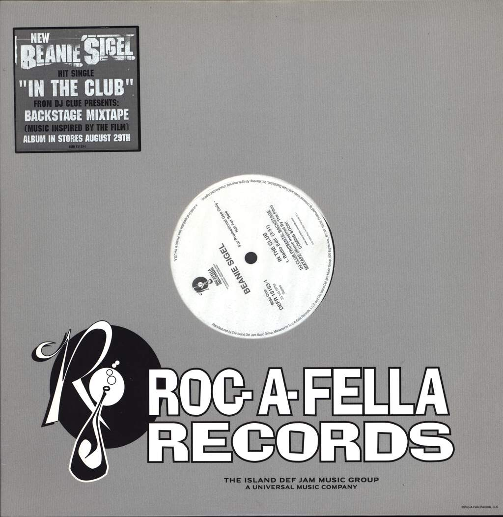 "Beanie Sigel: In The Club, 12"" Maxi Single (Vinyl)"
