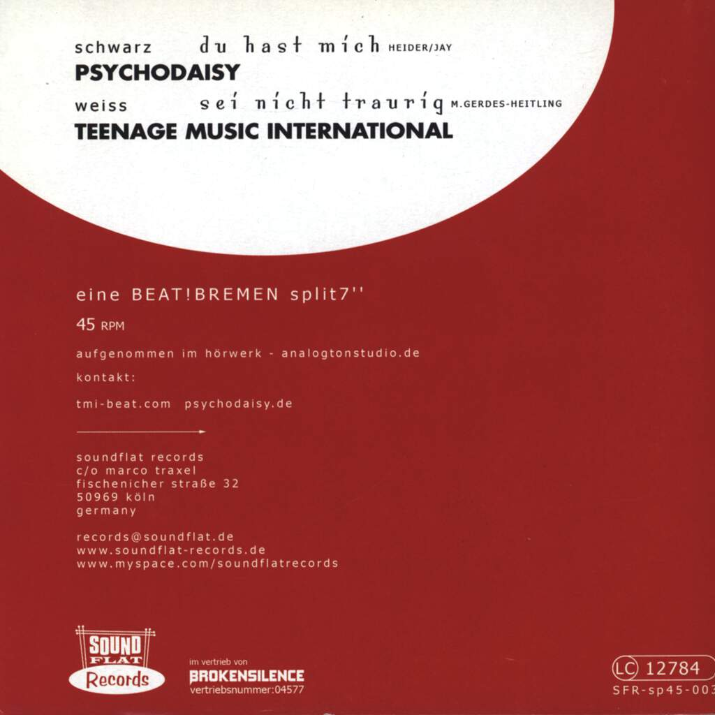 "Teenage Music International: Split, 7"" Single (Vinyl)"