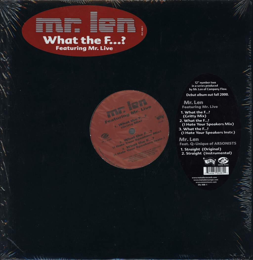"Mr Len: What The F...? / Straight, 12"" Maxi Single (Vinyl)"
