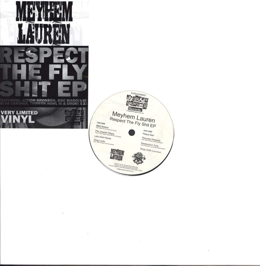 "Meyhem: Respect The Fly Shit EP, 12"" Maxi Single (Vinyl)"