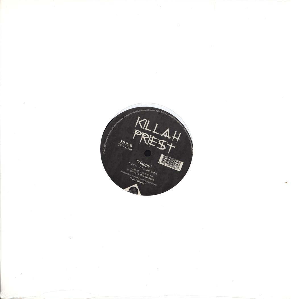 "Killah Priest: Gun For Gun (Rivers Of Blood) / Happy, 12"" Maxi Single (Vinyl)"