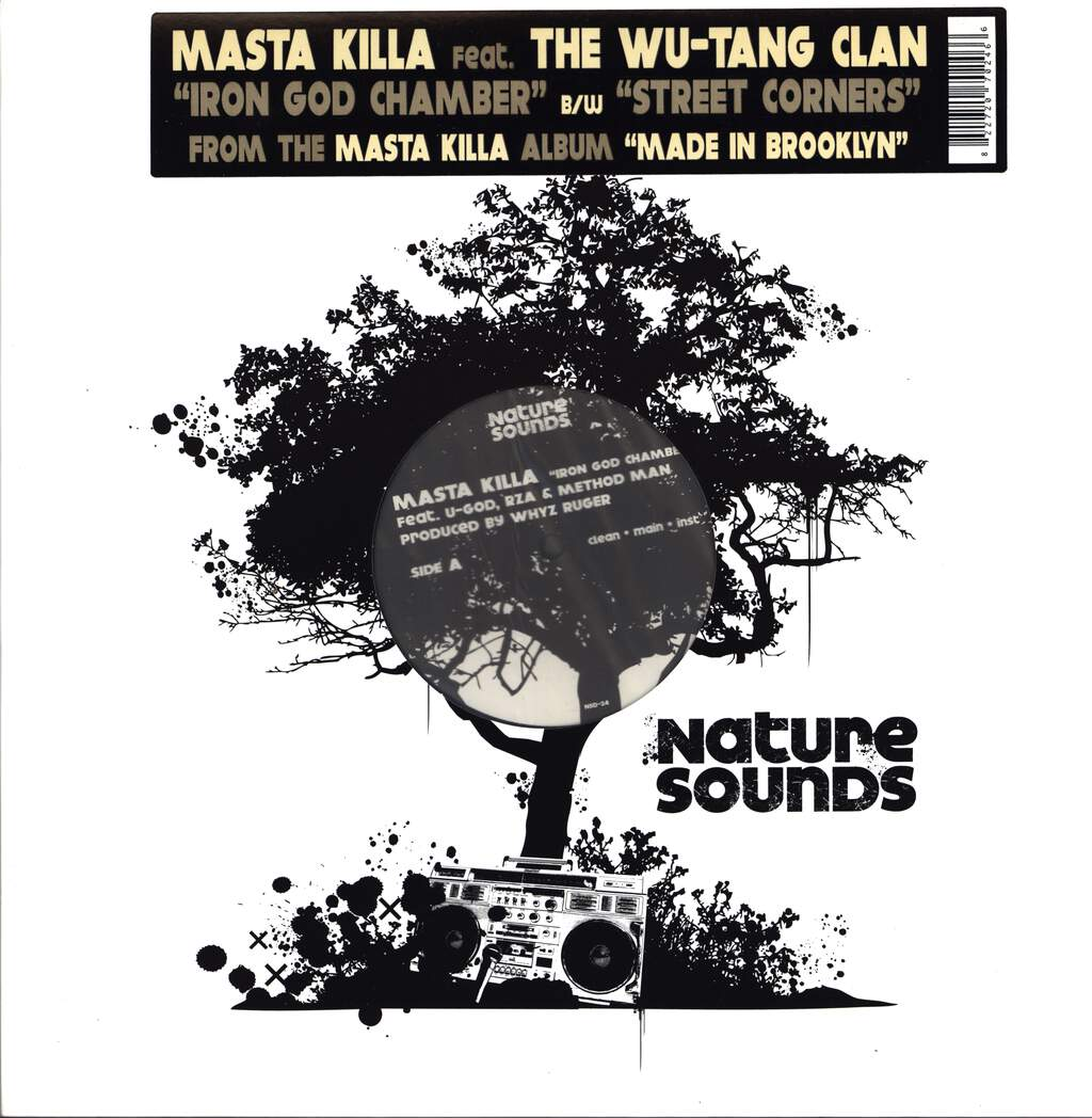 "Masta Killa: Iron God Chamber / Street Corners, 12"" Maxi Single (Vinyl)"