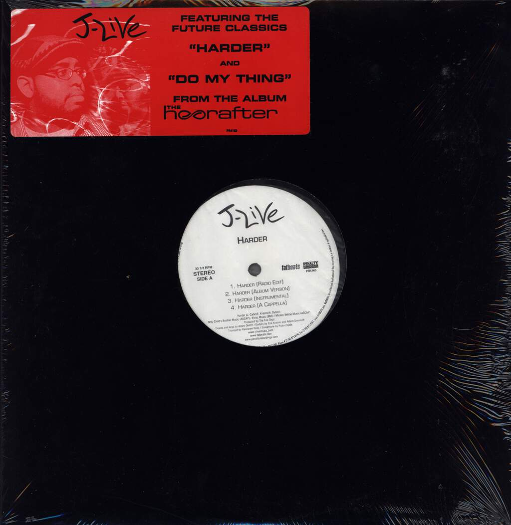 "J-Live: Harder / Do My Thing, 12"" Maxi Single (Vinyl)"