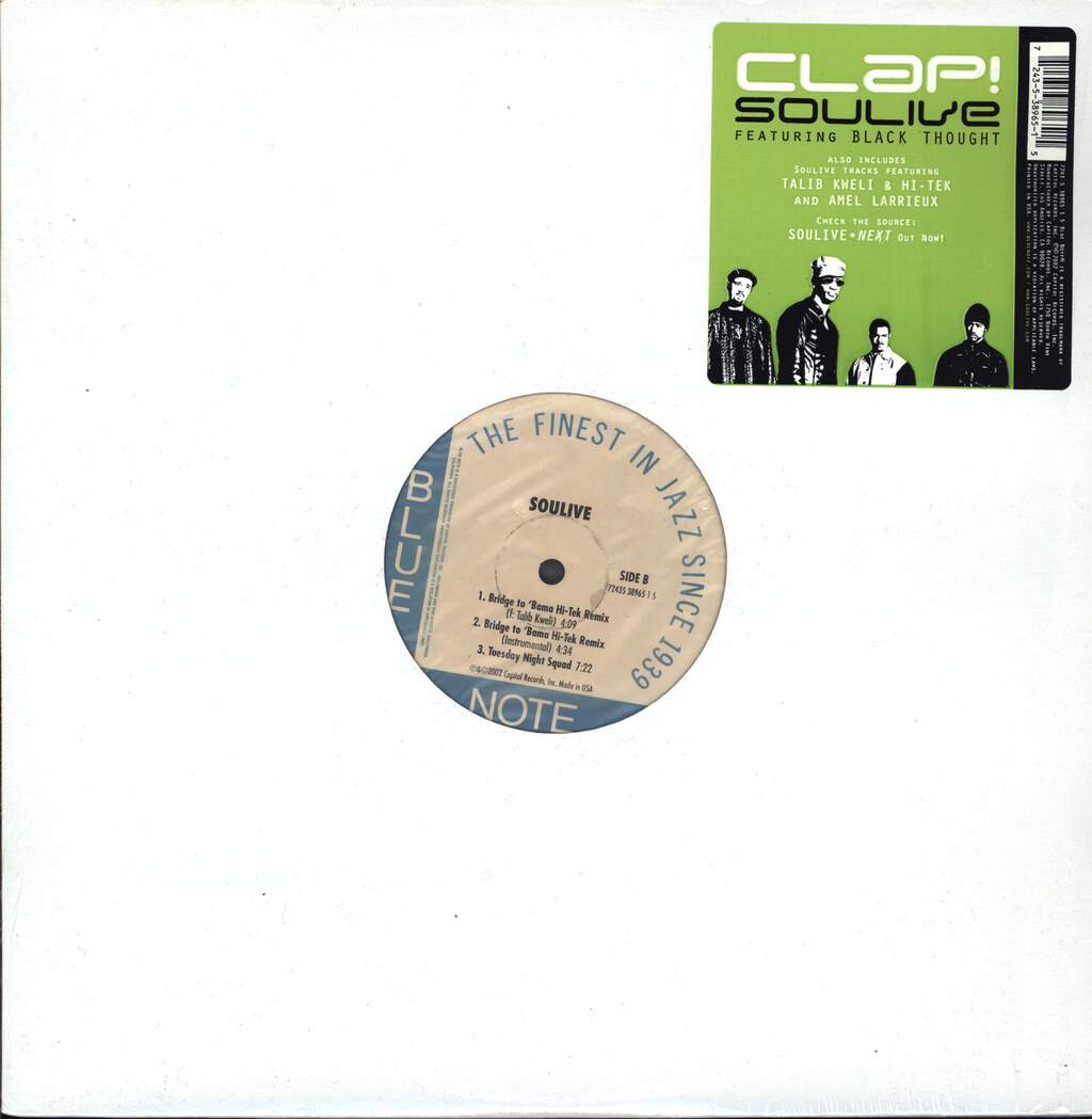 "Soulive: Clap!, 12"" Maxi Single (Vinyl)"