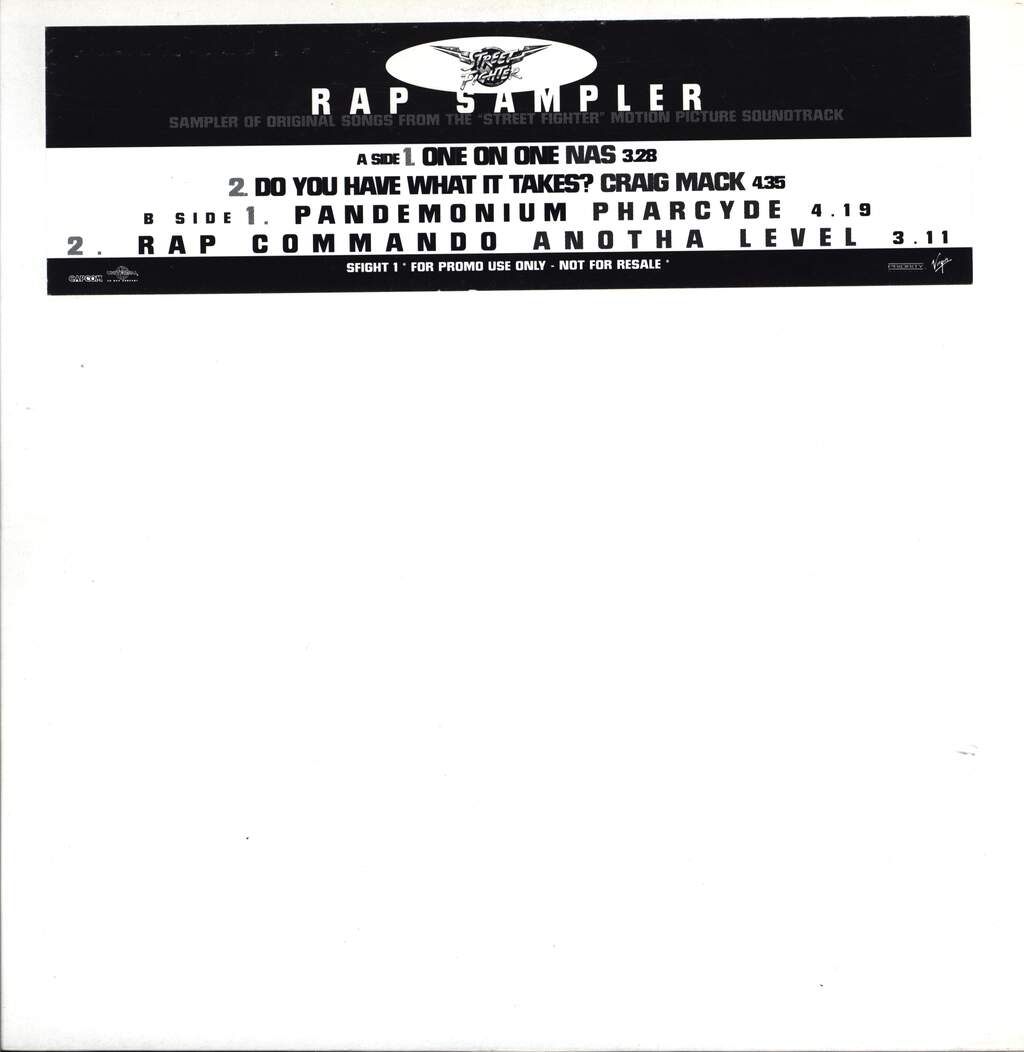 "Various: Street Fighter (Original Motion Picture Soundtrack Rap Sampler), 12"" Maxi Single (Vinyl)"
