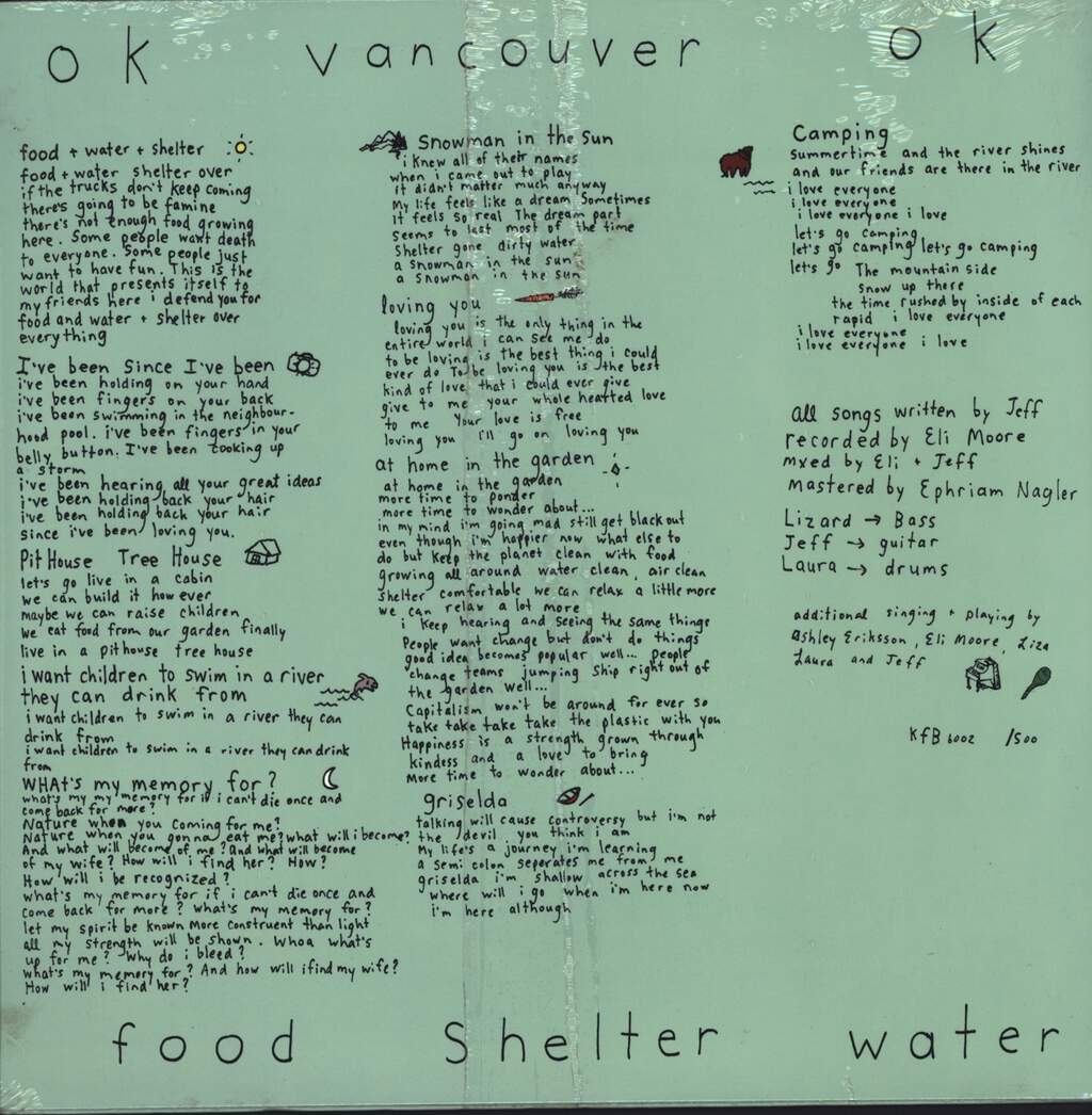OK Vancouver OK: Food. Shelter. Water., LP (Vinyl)