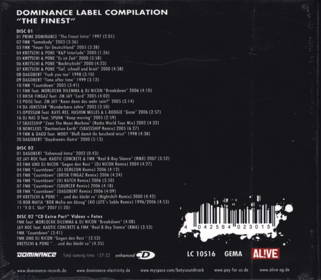 Various: The Finest - Dominance Label Compilation, CD