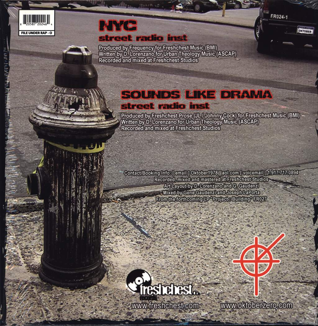 "Oktober: NYC / Sounds Like Drama, 12"" Maxi Single (Vinyl)"