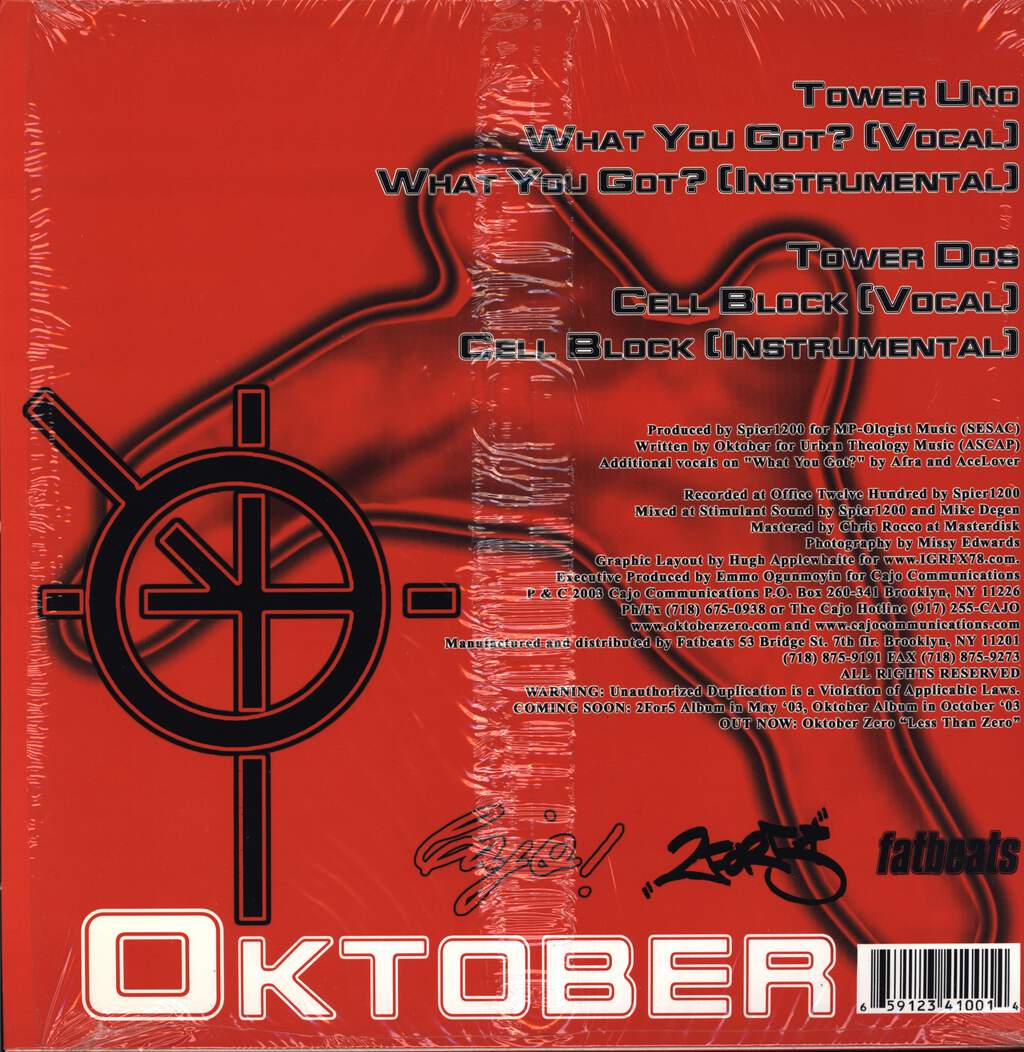 "Oktober: What You Got? / Cell Block, 12"" Maxi Single (Vinyl)"